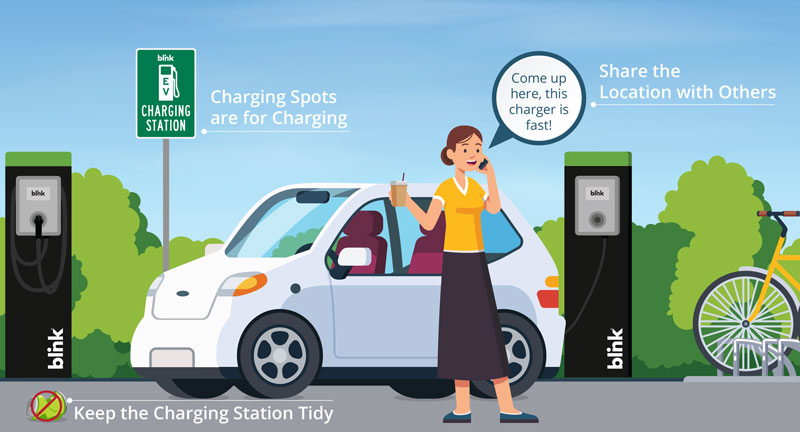 Keep the EV charging station tidy