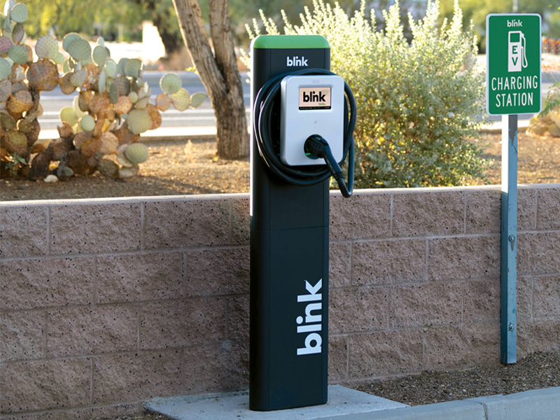 Blink Charging EV Charging Station roadside location