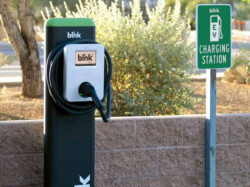 Blink IQ 200 Level 2 AC EV Charging Stations - EV Charging for Roadside Location and Businesses