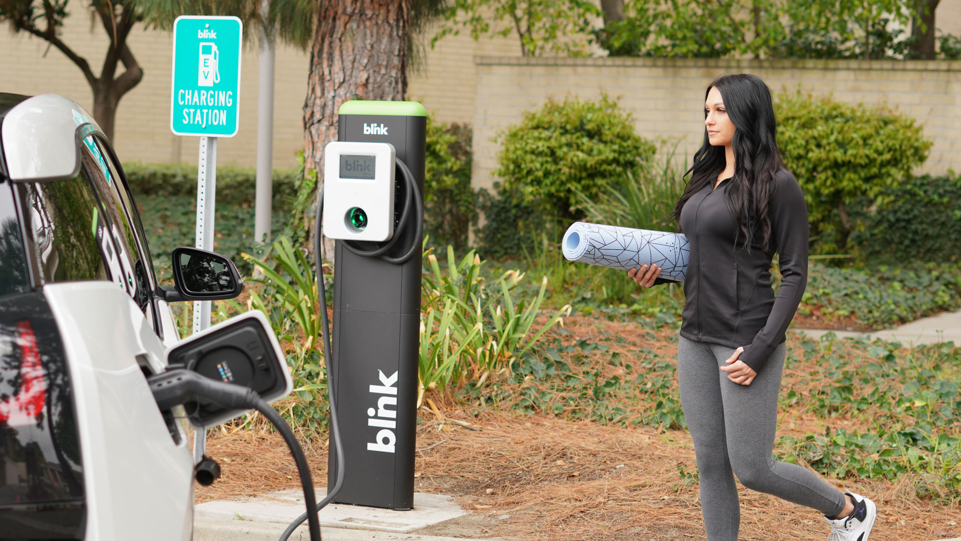 Blink Charging EV Charging Station roadside